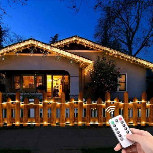 46ft Led Rope Lights Outdoor Battery